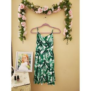 Tropical Palm Leaf Dress